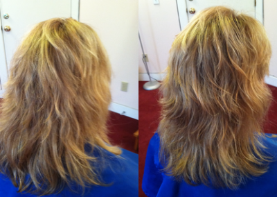 Damaged Hair Before & After Hair Balancing
